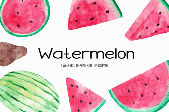 Watercolor Watermelon Ilustration Graphic Illustrations By BonaDesigns