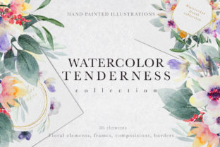 Watercolor Tenderness Collection Graphic Illustrations By Vera Vero