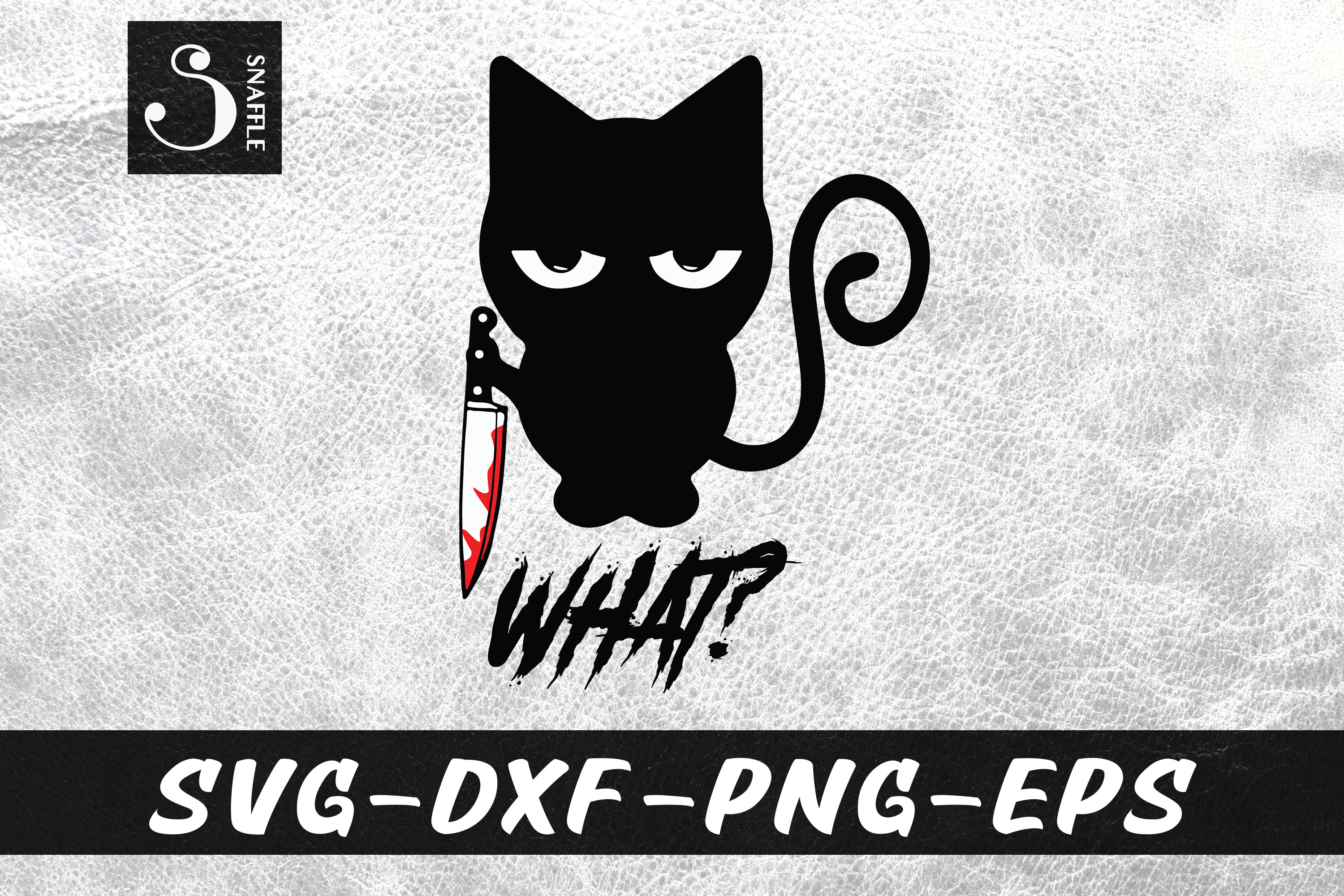 What Black Cat With Knife Halloween Svg Graphic By Snaffle Creative Fabrica