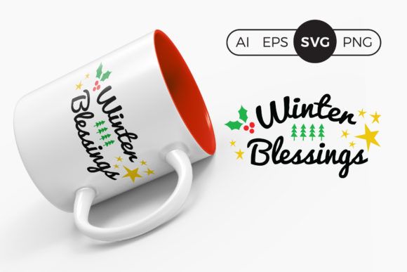 Winter Blessings Christmas SVG Clipart Graphic Crafts By DTCreativeLab