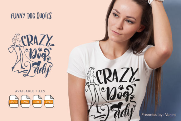 10 Funny Dog Bundle | Lettering Quotes Graphic Design