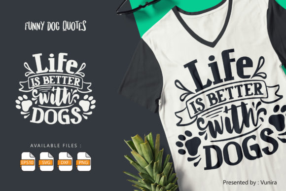 10 Funny Dog Bundle | Lettering Quotes Graphic Image