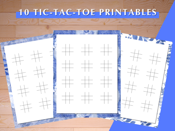 Print on Demand: 10 Tic Tac Toe Printables Graphic Print Templates By AscendPrints