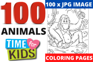 Print on Demand: 100 Coloring Animal Pages Bundle KDP Graphic Coloring Pages & Books Kids By Mastery Templates