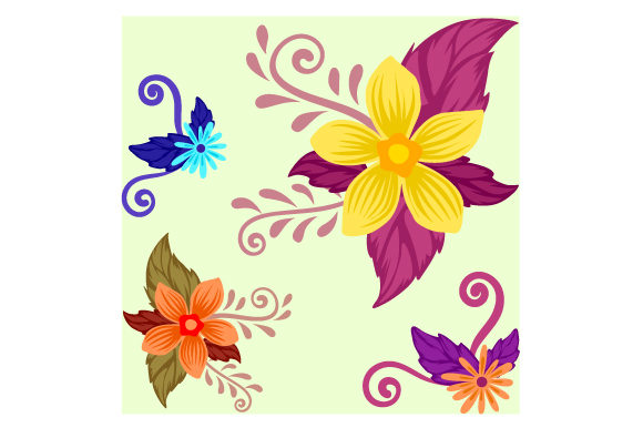Seamless Flower Background Designs & Drawings Craft Cut File By Creative Fabrica Crafts