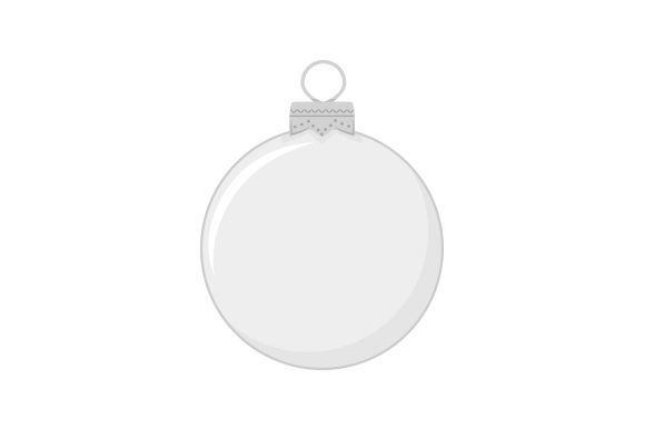 Christmas Ornament Template Cut File