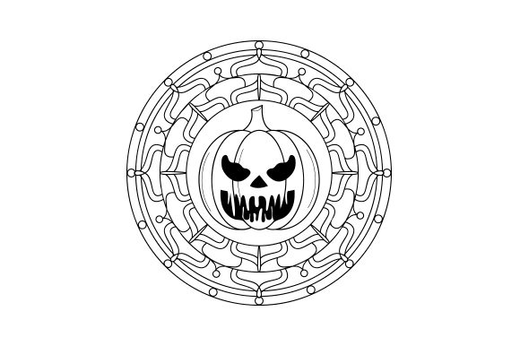 Jack-o'-lantern Mandala Mandalas Craft Cut File By Creative Fabrica Crafts