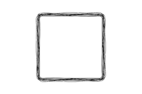 Scribble Rectangle Frame Cut File
