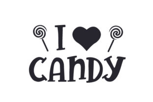 I Love Candy Halloween Craft Cut File By Creative Fabrica Crafts