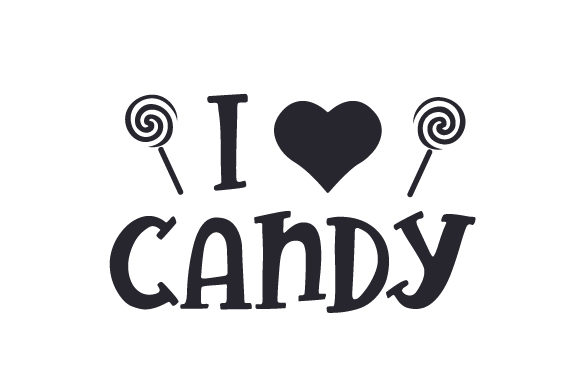 I Love Candy Halloween Craft Cut File By Creative Fabrica Crafts - Image 1