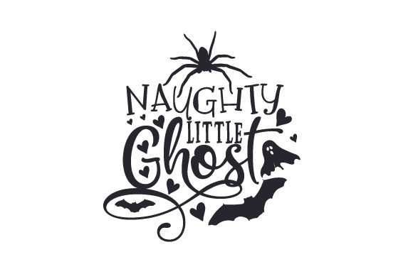 Naughty Little Ghost Halloween Craft Cut File By Creative Fabrica Crafts - Image 1