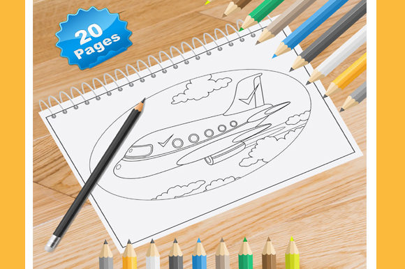20 Planes Coloring Pages for Kids Graphic Coloring Pages & Books Kids By Coloring World