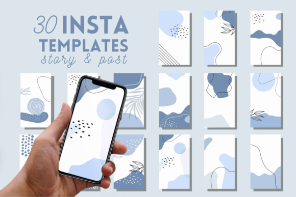 30 Blue Instagram Story Highlight Graphic Graphic Templates By SvgOcean