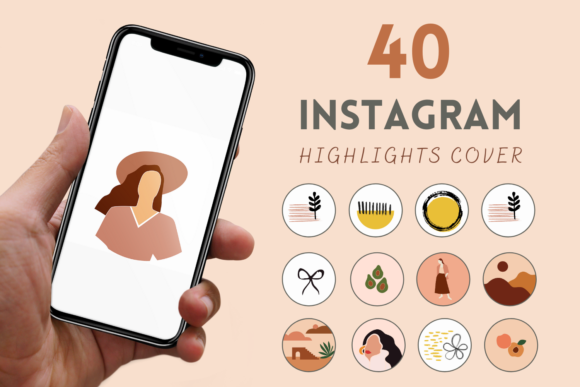 40 Boho Instagram Story Highlight Covers Graphic By Svgocean Creative Fabrica Download some free highlight covers for instagram stories from our big catalog. 40 boho instagram story highlight covers