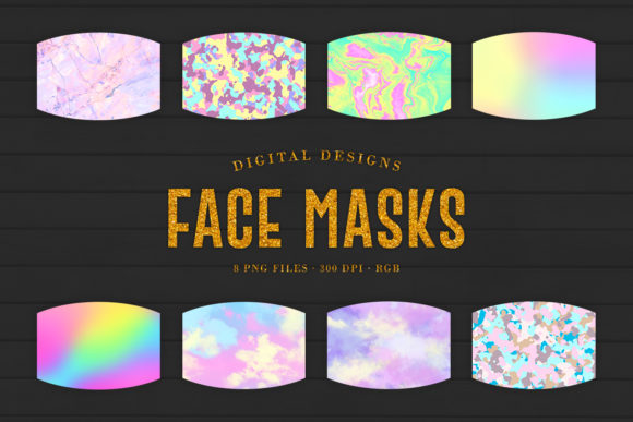 Print on Demand: 8 Sublimation Face Mask Designs Graphic Crafts By Sabina Leja