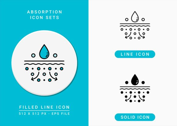Print on Demand: Absorption Icons Set Graphic Icons By zenorman03