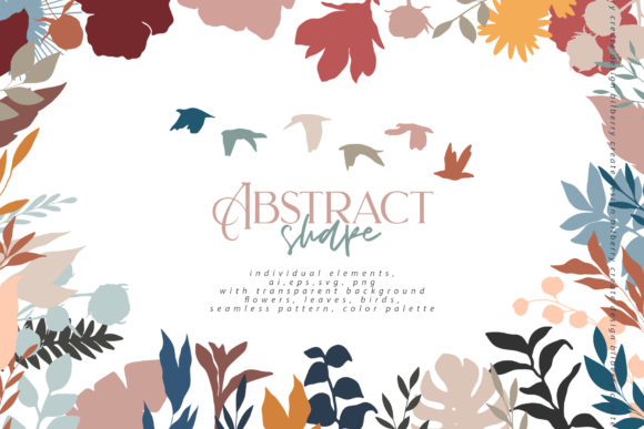 Abstract Shape Art Collection Graphic Illustrations By BilberryCreate