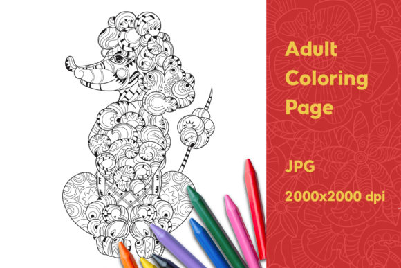 Adult Coloring Page Graphic