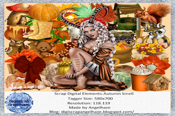Print on Demand: Autumn Smell Scrap Elements Graphic Product Mockups By Digiscrap Angelhaze - Image 1