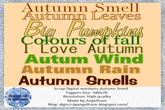Print on Demand: Autumn Smell-wordarts Graphic Web Elements By Digiscrap Angelhaze