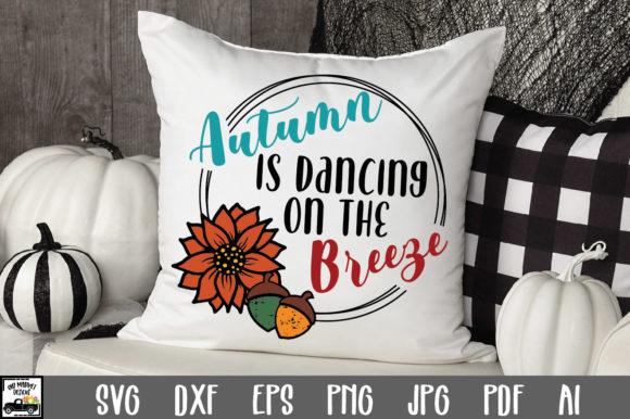 Print on Demand: Autumn is Dancing on the Breeze Graphic Crafts By oldmarketdesigns