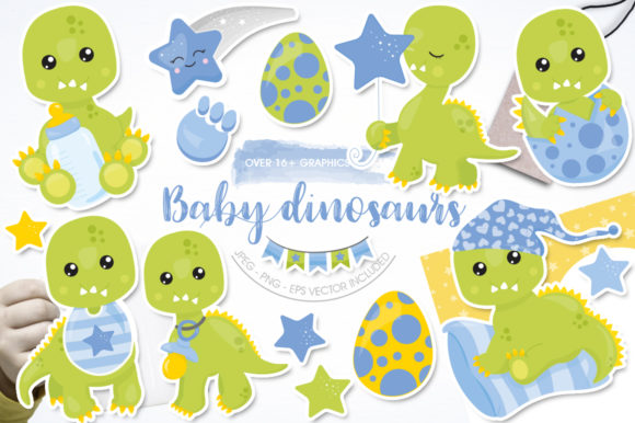 Print on Demand: Baby Dinosaurs Graphic Graphic Templates By Prettygrafik