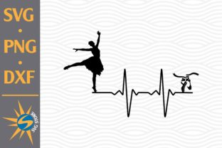 Print on Demand: Ballerina Heartbeat Graphic Crafts By SVGStoreShop