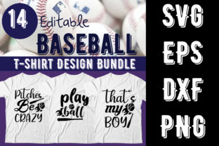 Print on Demand: Baseball  T-shirt Design Bundle Graphic Print Templates By Design_store