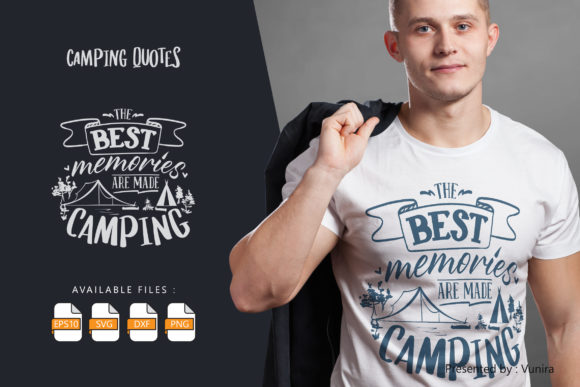 Print on Demand: Best Memories Are Made Camping Graphic Crafts By Vunira