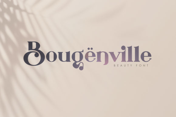 Print on Demand: Bougenville Serif Font By I Do Not Sleep