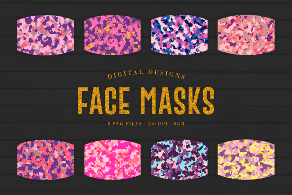 Print on Demand: Camo Sublimation Face Masks Designs Graphic Crafts By Sabina Leja