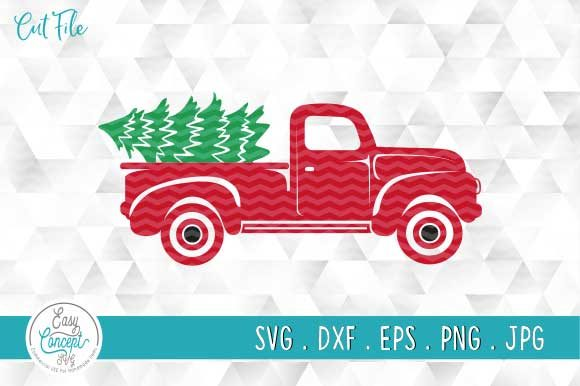 Christmas Truck Svg, Truck with Tree Svg Graphic Crafts By EasyConceptSvg
