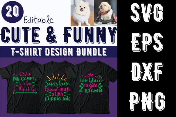 Print on Demand: Cute & Funny T-shirt Design Bundle Graphic Print Templates By Design_store