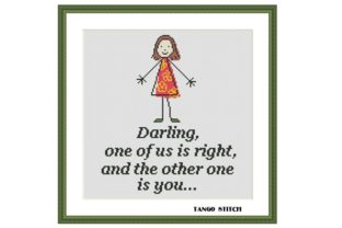 Print on Demand: Darling Funny Feminist Cross Stitch Graphic Cross Stitch Patterns By Tango Stitch