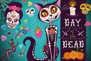 Day of the Dead Collection Graphic Illustrations By Dapper Dudell