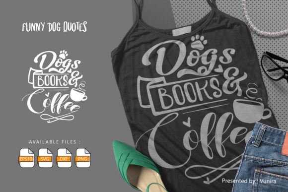 Print on Demand: Dogs Book and Coffee Graphic Crafts By Vunira
