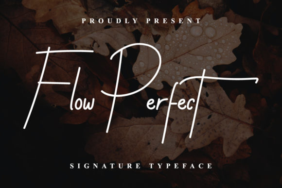 Print on Demand: Flow Perfect Script & Handwritten Font By EdricStudio