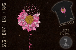 Print on Demand: Flower Faith Breast Cancer Awareness Graphic Crafts By Zemira