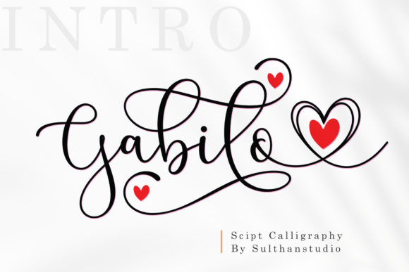 Print on Demand: Gabilo Script & Handwritten Font By Sulthan Studio