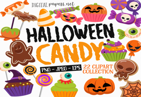 Print on Demand: Halloween Candy Graphic Illustrations By DigitalPapers