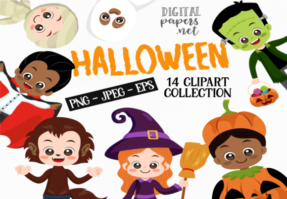 Print on Demand: Halloween Kids Grafik Illustrationen von DigitalPapers