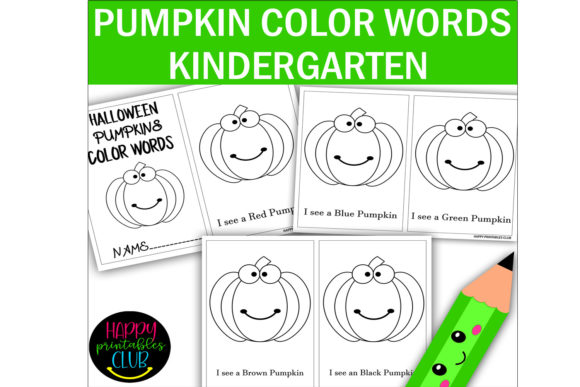Print on Demand: Halloween Pumpkin Color Words Activity Graphic K By Happy Printables Club