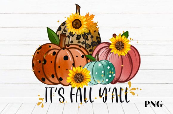 Print on Demand: Halloween Pumpkins It's Fall Y'all Graphic Illustrations By Suda Digital Art