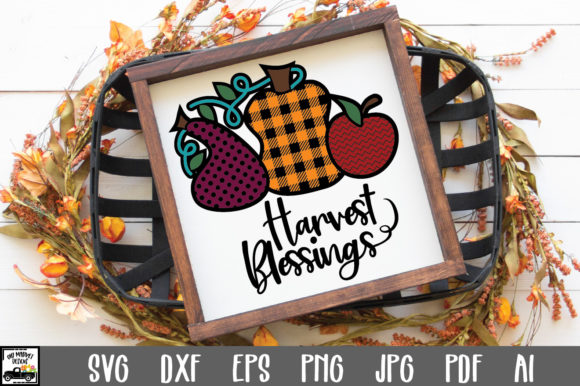 Print on Demand: Harvest Blessings Graphic Crafts By oldmarketdesigns