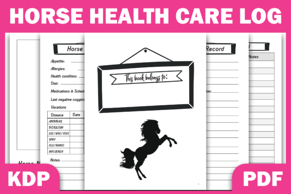 Print on Demand: Horse Health & Activities Record | KDP Graphic KDP Interiors By Fayne