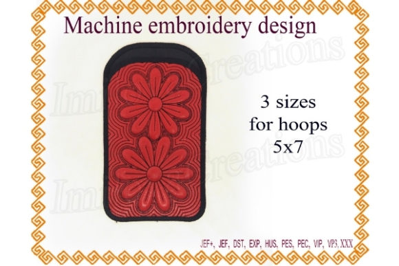 Phone Case - in the Hoop Accessories Embroidery Design By ImilovaCreations - Image 1