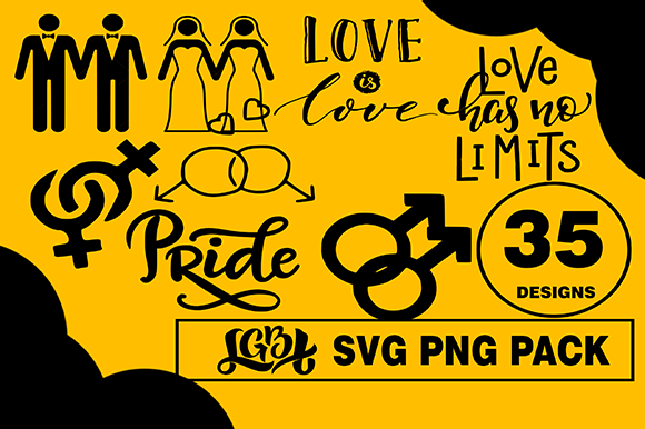 Print on Demand: LGBT Design Bundle Graphic Illustrations By CactusTreeDesigns