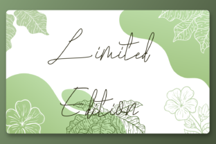 Print on Demand: Limited Edition Script & Handwritten Font By fiqiart