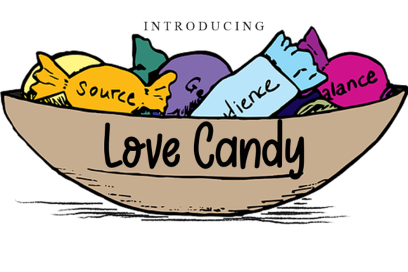 Print on Demand: Love Candy Script & Handwritten Font By gunawanletter
