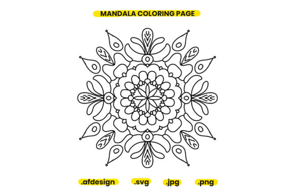 Print on Demand: Mandala Coloring Page Design 01 Graphic Coloring Pages & Books Adults By doridodesign